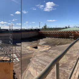 Coating removal performed for water treatment plant.